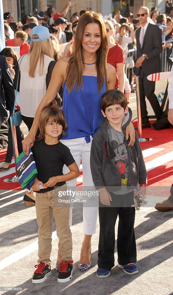 Actress <a gi-track='captionPersonalityLinkClicked' href=/galleries/search?phrase=Brooke+Burke&family=editorial&specificpeople=203216 ng-click='$event.stopPropagation()'>Brooke Burke</a>-Charvet arrives at the Los Angeles premiere of 'Planes' at the El Capitan Theatre on August 5, 2013 in Hollywood, California.