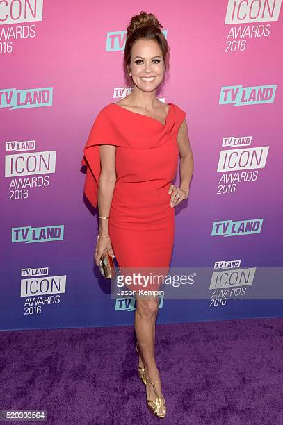 Actress Brooke BurkeCharvet attends 2016 TV Land Icon Awards at The Barker Hanger on April 10 2016 in Santa Monica California