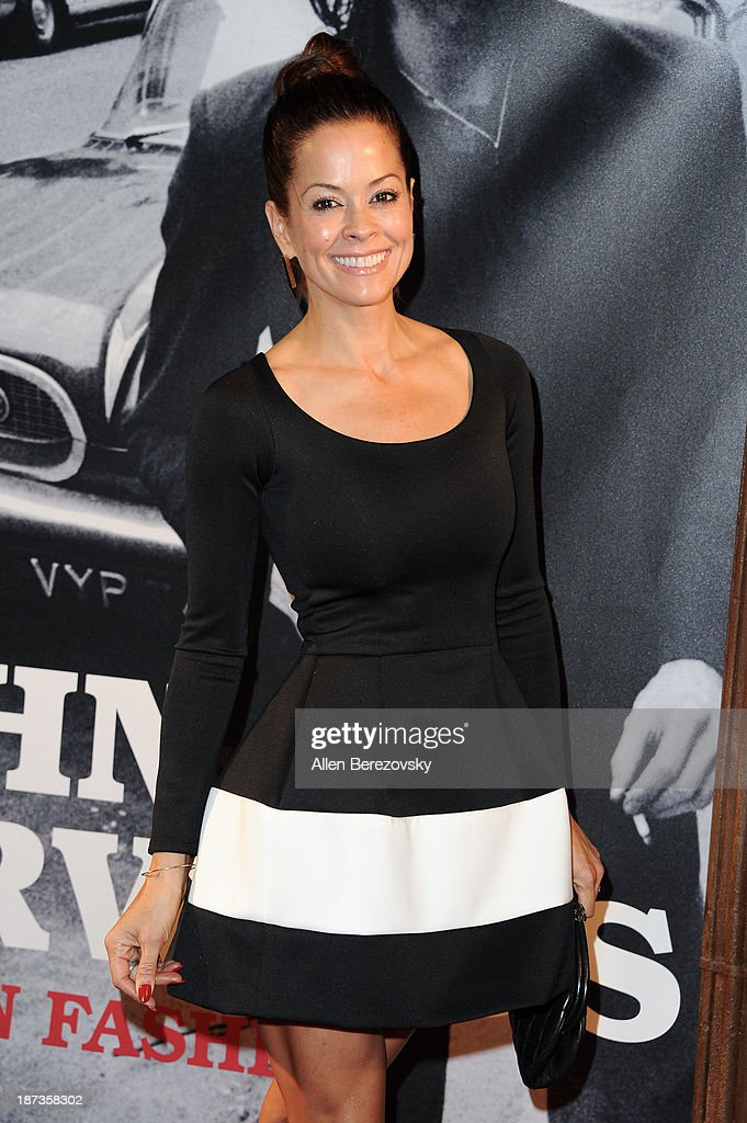 Actress <a gi-track='captionPersonalityLinkClicked' href=/galleries/search?phrase=Brooke+Burke&family=editorial&specificpeople=203216 ng-click='$event.stopPropagation()'>Brooke Burke</a>-Charvet attends the John Varvatos' new book 'John Varvatos: Rock In Fashion' launch party at John Varvatos Los Angeles on November 7, 2013 in Los Angeles, California.