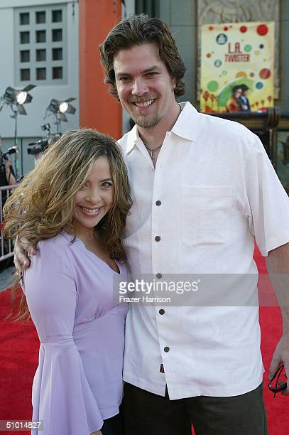 Actress Brooke Lewis arrives at the World Premiere of 'LA Twister' on June 30 2004 at the Grauman's Chinese Theatre in Hollywood California