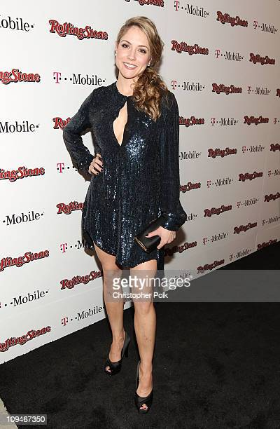 Actress Brooke Nevin arrives at the Peter Travers and Editors of Rolling Stone Host Awards Weekend Bash at Drai's Hollywood on February 26 2011 in...