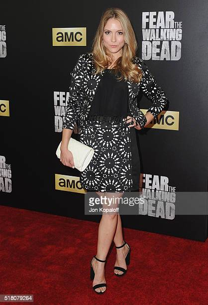 Actress Brooke Nevin arrives at the premiere Of AMC's 'Fear The Walking Dead' Season 2 at Cinemark Playa Vista on March 29 2016 in Los Angeles...