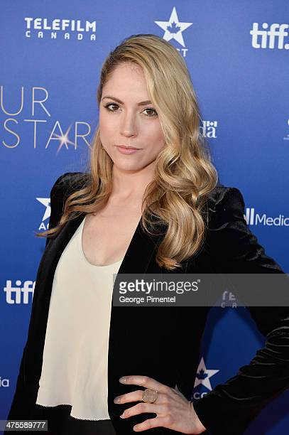 Actress Brooke Nevin attends Canada's Stars Of the Awards Season presented by TeleFilm on February 27 2014 in Los Angeles California