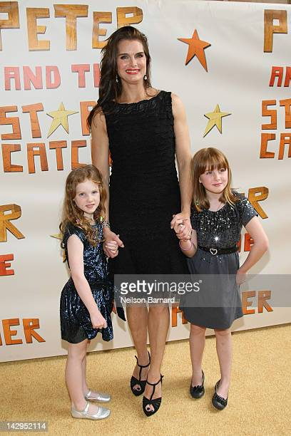 Actress Brooke Shields and children Rowan Francis Henchy and Grier Hammond Henchy attend the opening night of 'Peter And The Starcatcher' on Broadway...