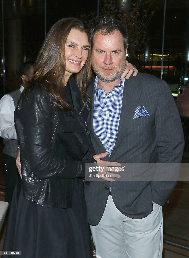 Actress Brooke Shields and Chris Henchy attend the reception for the New York premiere of EPIX's 'Under The Gun' at Lincoln on May 12, 2016 in New York City.