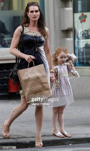Actress Brooke Shields and daughter Grier Hammond Henchy are seen in SOHO on June 2 2010 in New York New York