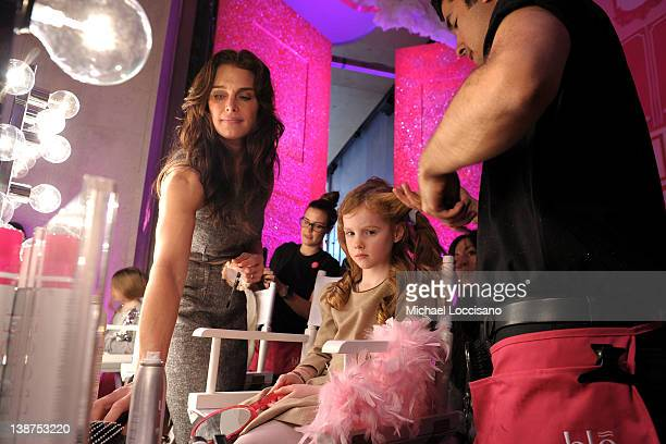 Actress Brooke Shields and daughter Grier Hammond Henchy attend Barbie The Dream Closet Playdate Saturday February 11th at David Rubenstein Atrium on...