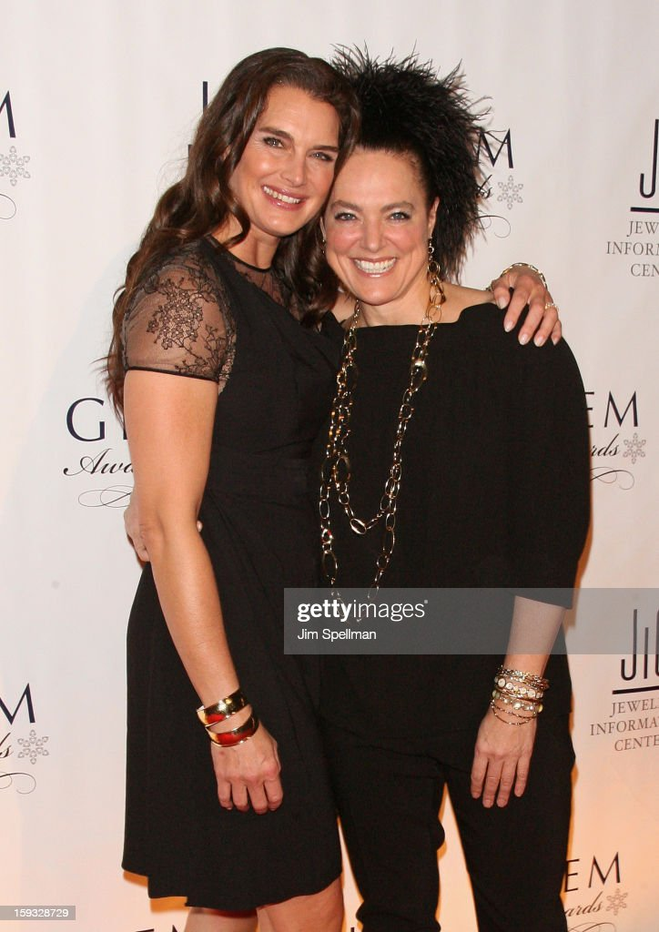 Actress <a gi-track='captionPersonalityLinkClicked' href=/galleries/search?phrase=Brooke+Shields&family=editorial&specificpeople=202197 ng-click='$event.stopPropagation()'>Brooke Shields</a> and Ippolita Rostagno attend the 11th Annual GEM Awards Gala at Cipriani 42nd Street on January 11, 2013 in New York City.