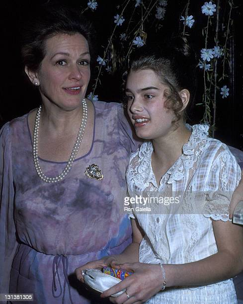Actress Brooke Shields and mother Teri Shields attend Michaele Vollbracht's Debut Fashion Show to Benefit the American Cancer Society on May 4 1978...