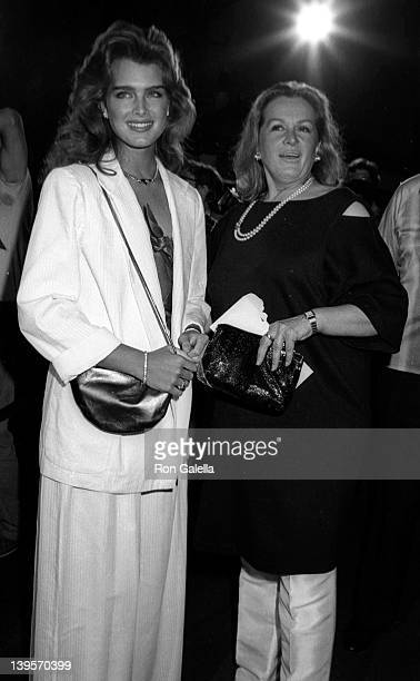 Actress Brooke Shields and mother Terri Shields attend the premiere of 'Stayin Alive' on July 11 1983 at Mann Chinese Theater in Hollywood California