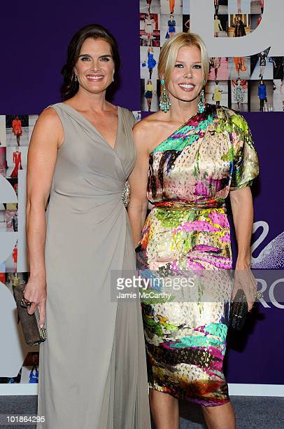 Actress Brooke Shields and TV personality Mary Alice Stephenson attend the 2010 CFDA Fashion Awards at Alice Tully Hall at Lincoln Center on June 7...