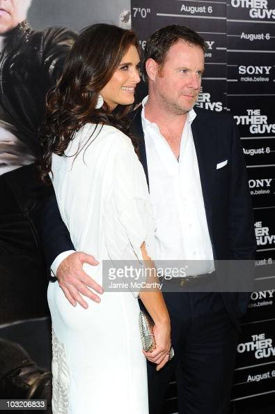Actress Brooke Shields and writer Chris Henchy attend the premiere of 'The Other Guys' at the Ziegfeld Theatre on August 2 2010 in New York City