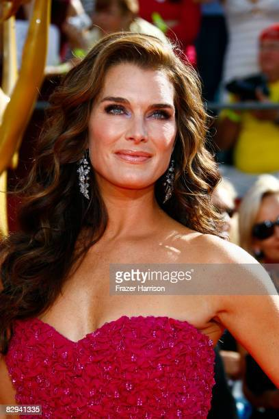 Actress Brooke Shields arrives at the 60th Primetime Emmy Awards held at Nokia Theatre on September 21 2008 in Los Angeles California