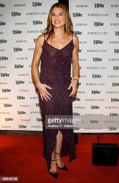 Actress Brooke Shields attends a party celebrating her return to Broadway at Bond 45 on September 15 2005 in New York NY Brooke Shields stars as...