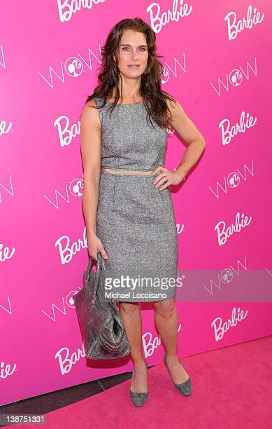 Actress Brooke Shields attends Barbie The Dream Closet Playdate Saturday February 11th at David Rubenstein Atrium on February 11 2012 in New York City