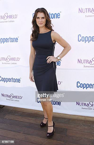 Actress Brooke Shields attends Coppertone's 'Suncare Awakening Seeing is Believing' event held at the Thompson Hotel on May 21 2009 in Beverly Hills...