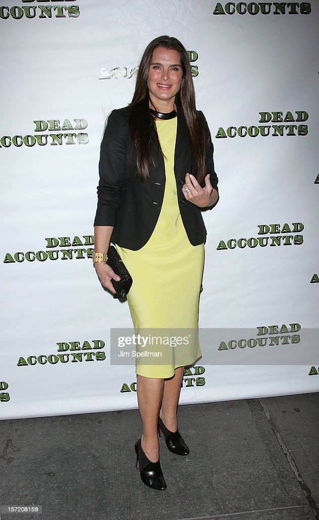 Actress Brooke Shields attends 'Dead Accounts' Broadway Opening Night at Music Box Theatre on November 29, 2012 in New York City.