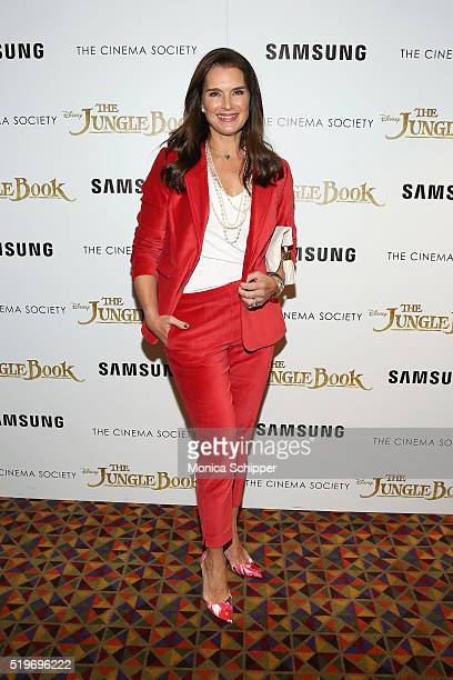 Actress Brooke Shields attends Disney With The Cinema Society Samsung Host A Screening Of 'The Jungle Book' at AMC Empire 25 theater on April 7 2016...