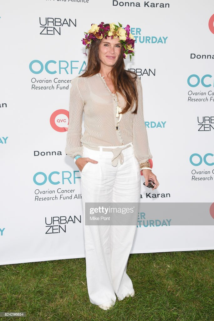 Actress Brooke Shields attends OCRFA's 20th Annual Super Saturday to Benefit Ovarian Cancer on July 29, 2017 in Watermill, New York.
