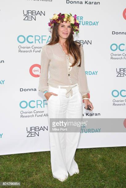 Actress Brooke Shields attends OCRFA's 20th Annual Super Saturday to Benefit Ovarian Cancer on July 29 2017 in Watermill New York