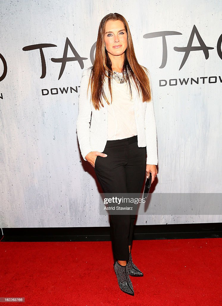Actress Brooke Shields attends TAO Downtown Grand Opening on September 28, 2013 in New York City.