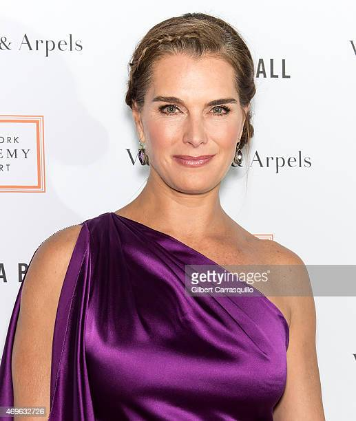 Actress Brooke Shields attends the 2015 Tribeca Ball at New York Academy of Art on April 13 2015 in New York City