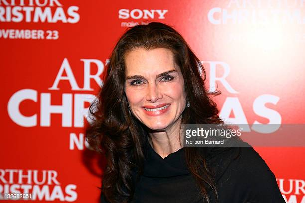 Actress Brooke Shields attends the 'Arthur Christmas' premiere at the Clearview Chelsea Cinemas on November 13 2011 in New York City