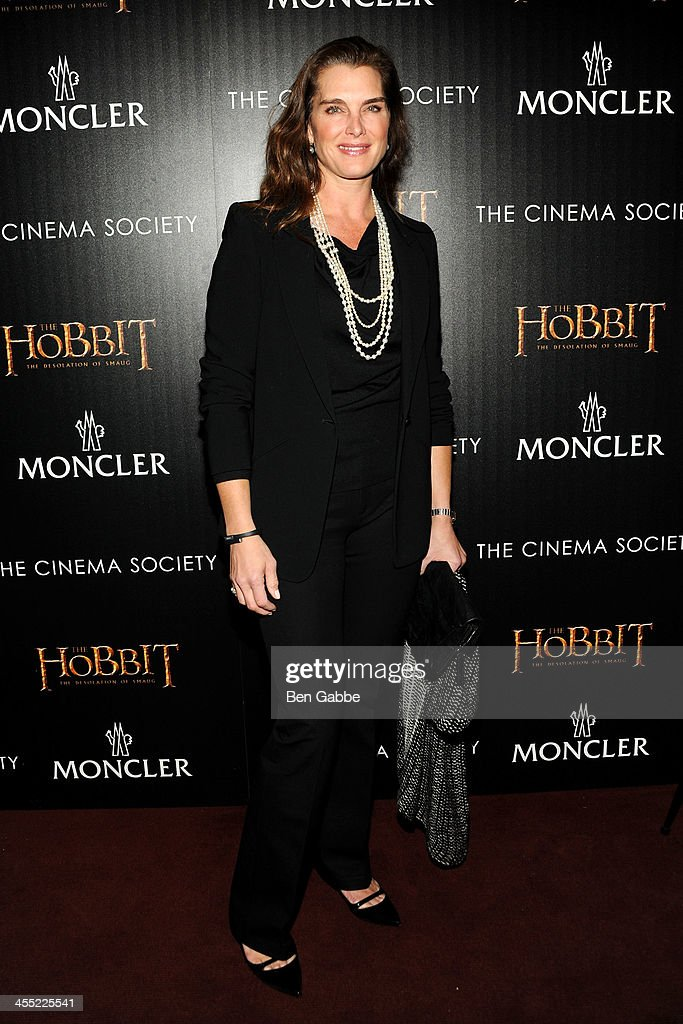 Actress <a gi-track='captionPersonalityLinkClicked' href=/galleries/search?phrase=Brooke+Shields&family=editorial&specificpeople=202197 ng-click='$event.stopPropagation()'>Brooke Shields</a> attends The Cinema Society & Moncler host a screening of New Line Cinema & MGM Pictures' 'The Hobbit: The Desolation of Smaug' at Time Warner Screening Room on December 11, 2013 in New York City.