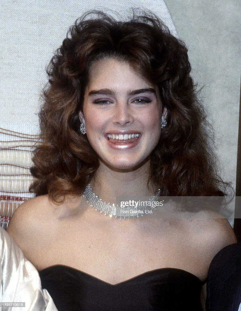 Actress Brooke Shields attends the Cocktail Reception to Celebrate the Unveiling of Johnson Matthey's Limited Edition Platinum Jewerly Collection on November 4, 1983 at H. Stern Fifth Avenue in New York City.