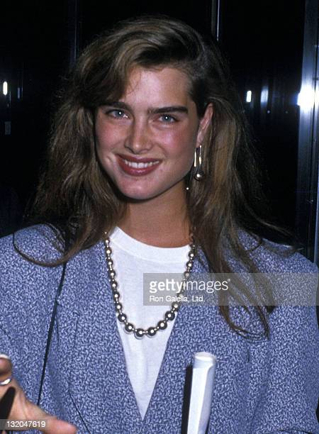 Actress Brooke Shields attends the 'Crossing Delancey' New York City Premiere on August 17 1988 at the Museum of Modern Art in New York City