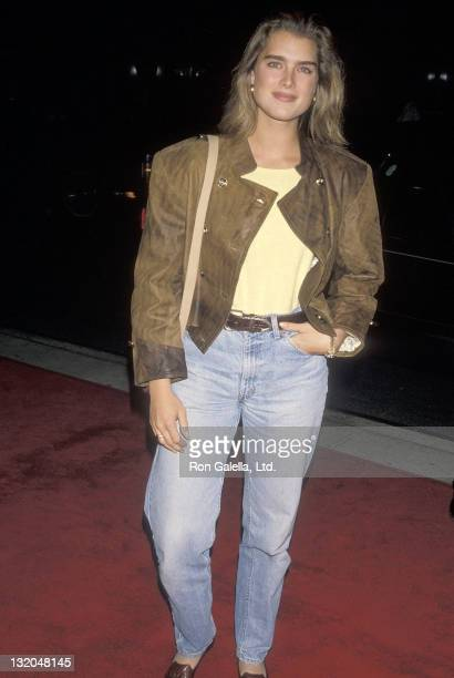 Actress Brooke Shields attends the 'Goodfellas' New York City Premiere on September 18 1990 at the Museum of Modern Art in New York City