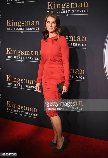Actress Brooke Shields attends the 'Kingsman The Secret Service' New York premiere at SVA Theater on February 9 2015 in New York City