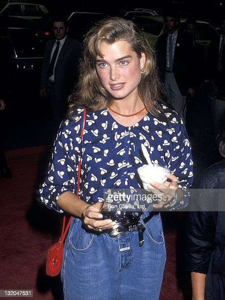Actress Brooke Shields attends the 'Midnight Run' New York City Premiere on July 11 1988 at the Sutton Theater in New York City