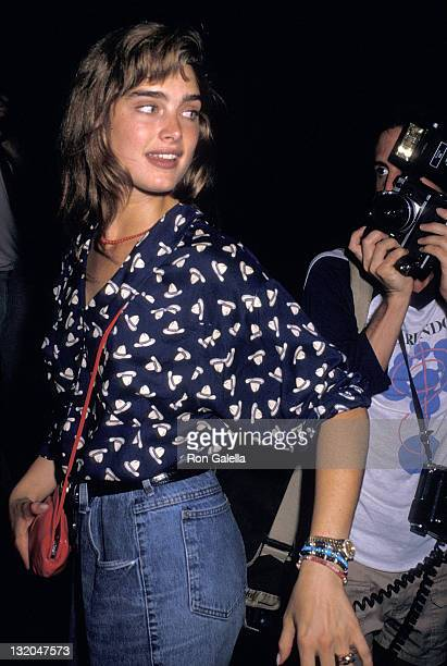 Actress Brooke Shields attends the 'Midnight Run' Premiere Party on July 111 988 at the Greene Street Cafe in New York City