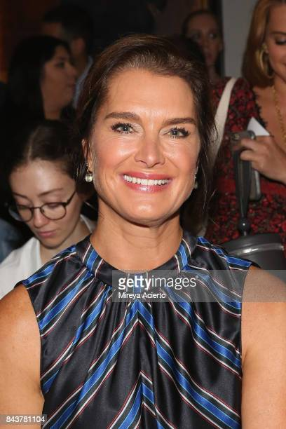 Actress Brooke Shields attends the Sachin Babi fashion show during New York Fashion Week on September 7 2017 in New York City