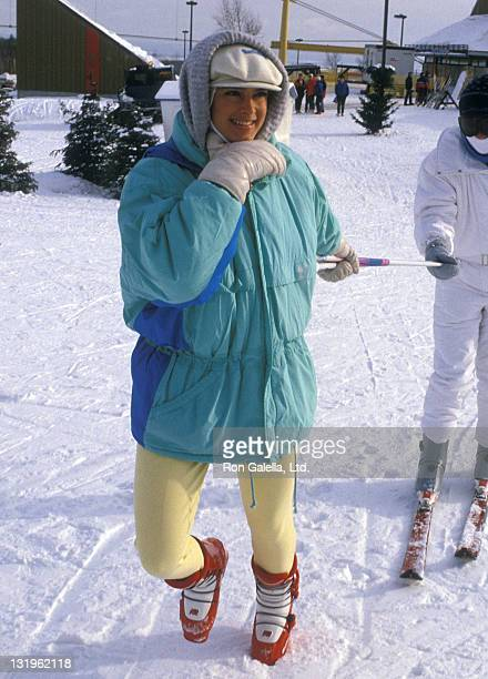 Actress Brooke Shields attends the Second Annual Pepsi Celebrity Ski Invitational and Quebec Winter Carnival Weekend on February 5 1988 at...