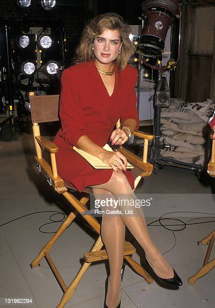 Actress Brooke Shields attends the Taping of the NBC Television Special 'Stand By for HNN The Hope News Network' on September 3 1988 at NBC...
