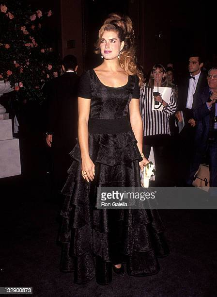 Actress Brooke Shields attends the 'Valentino Thirty Years of Magic' Retrospective Gala on September 22 1992 at the 67th Street Armory in New York...