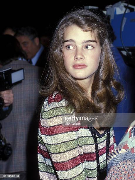 Actress Brooke Shields attends the 'VIP Night on Broadway' Benefit Performance for the NYC Police Department After Party on April 22 1979 at the...