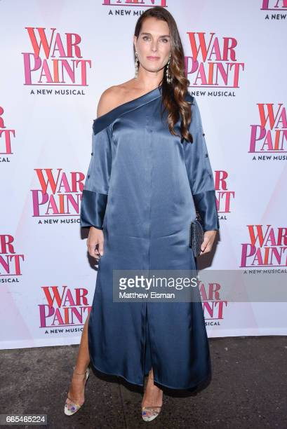 Actress Brooke Shields attends the 'War Paint' Broadway opening night at Nederlander Theatre on April 6 2017 in New York City