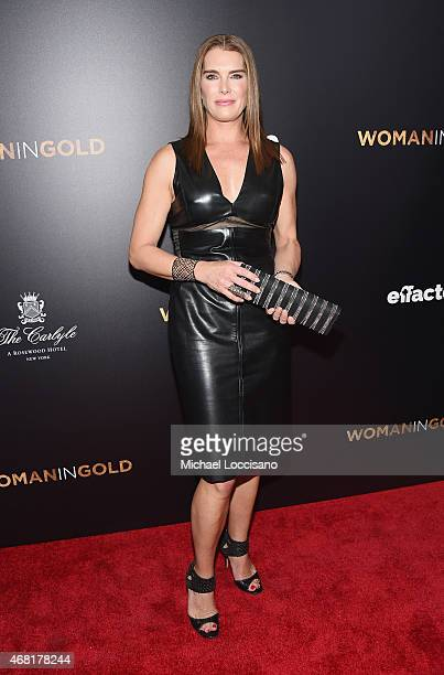 Actress Brooke Shields attends the 'Woman In Gold' New York premiere at The Museum of Modern Art on March 30 2015 in New York City