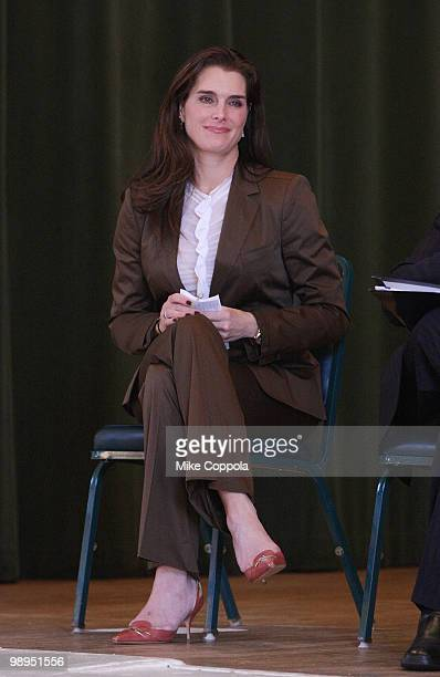 Actress Brooke Shields celebrates the MOTHERS act legislation on postpartum depression which was included in the federal health insurance reform law...