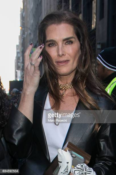 Actress Brooke Shields is seen on February 10 2017 in New York City
