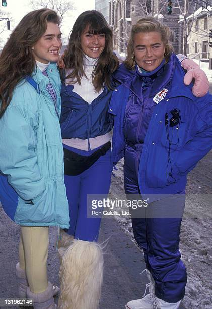 Actress Brooke Shields model Carol Alt and model Margaux Hemingway attend Second Annual Pepsi Celebrity Ski Invitational and Quebec Winter Carnival...