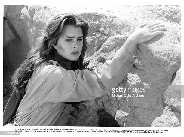 Actress Brooke Shields on set of the MGM movie'Sahara' in 1983