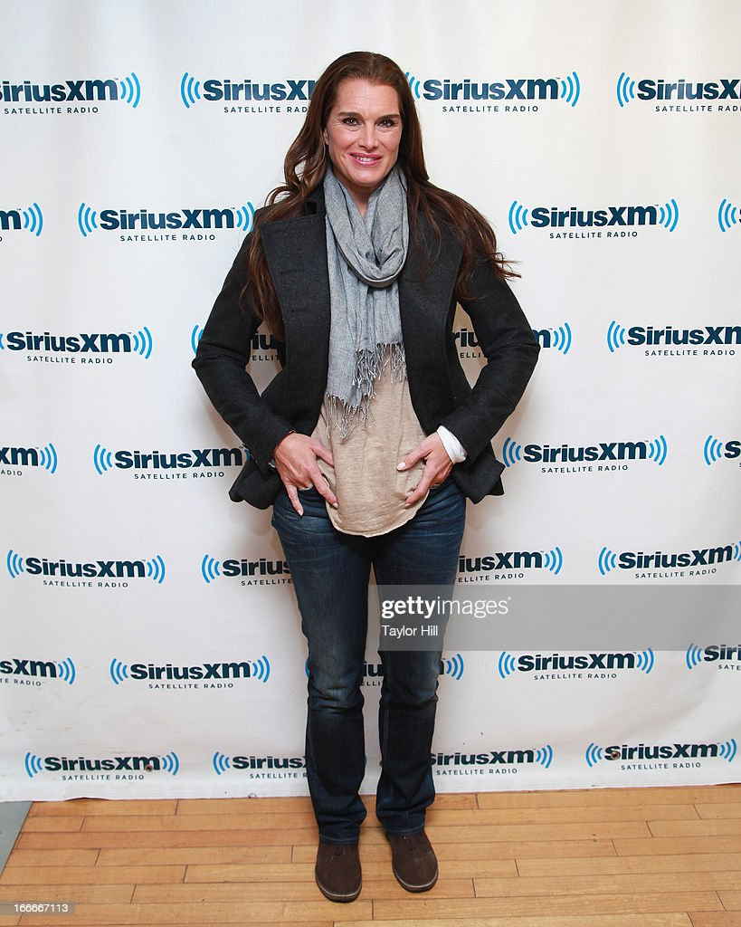Actress Brooke Shields visits the SiriusXM Studios on April 15 2013 in New York City