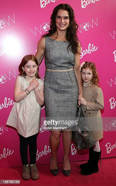 Actress Brooke Shields with daughters Rowan Francis Henchy and Grier Hammond Henchy visit Barbie's Dream Closet in Lincoln Center at the David...