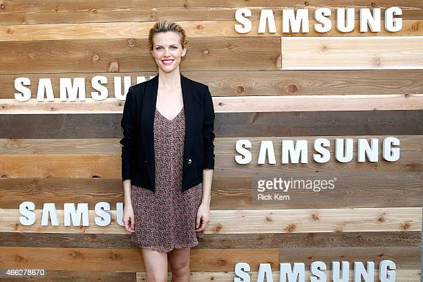 "Actress Brooklyn Decker attends a cocktail party for the cast of Magnolia Pictures' ""Results"" hosted by Samsung at SXSW 2015 on March 14 2015 in..."
