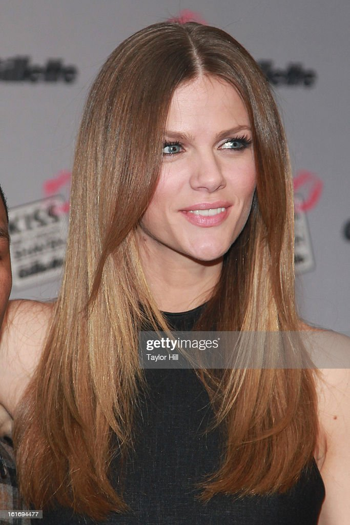 Actress Brooklyn Decker attends Gillette's Largest Shave & Kiss Valentine's Day Event at The Shops at Columbus Circle on February 14, 2013 in New York City.