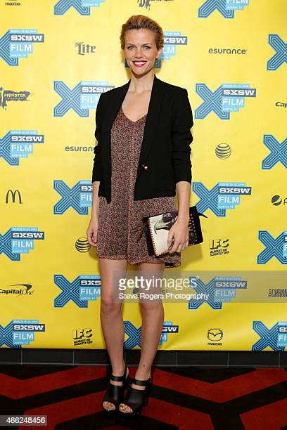 Actress Brooklyn Decker attends the premiere of 'Results' during the 2015 SXSW Music Film Interactive Festival at Alamo Lamar A on March 14 2015 in...